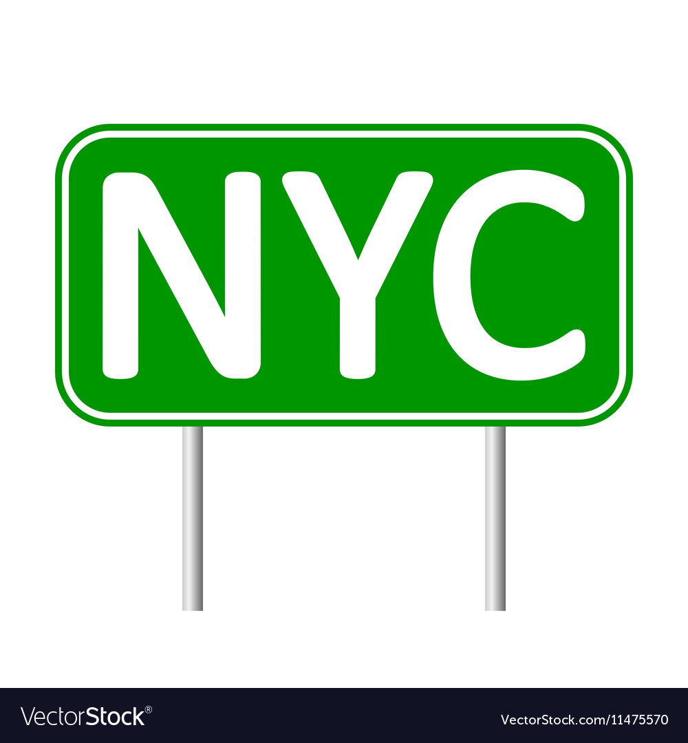 New York City green road sign