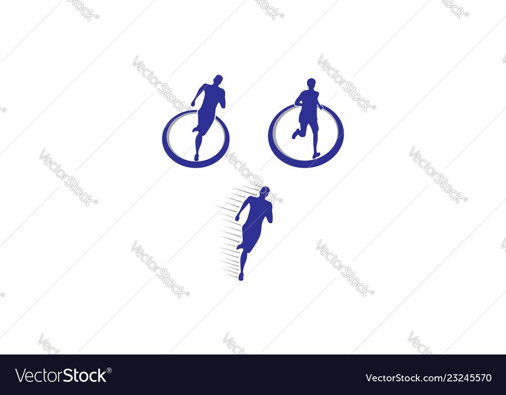 Run sport logo icon