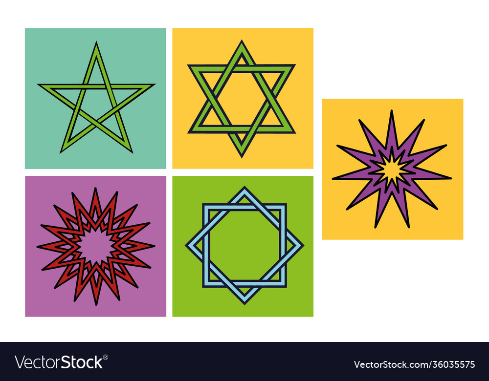 Arabic star symbols for ornament or decoration