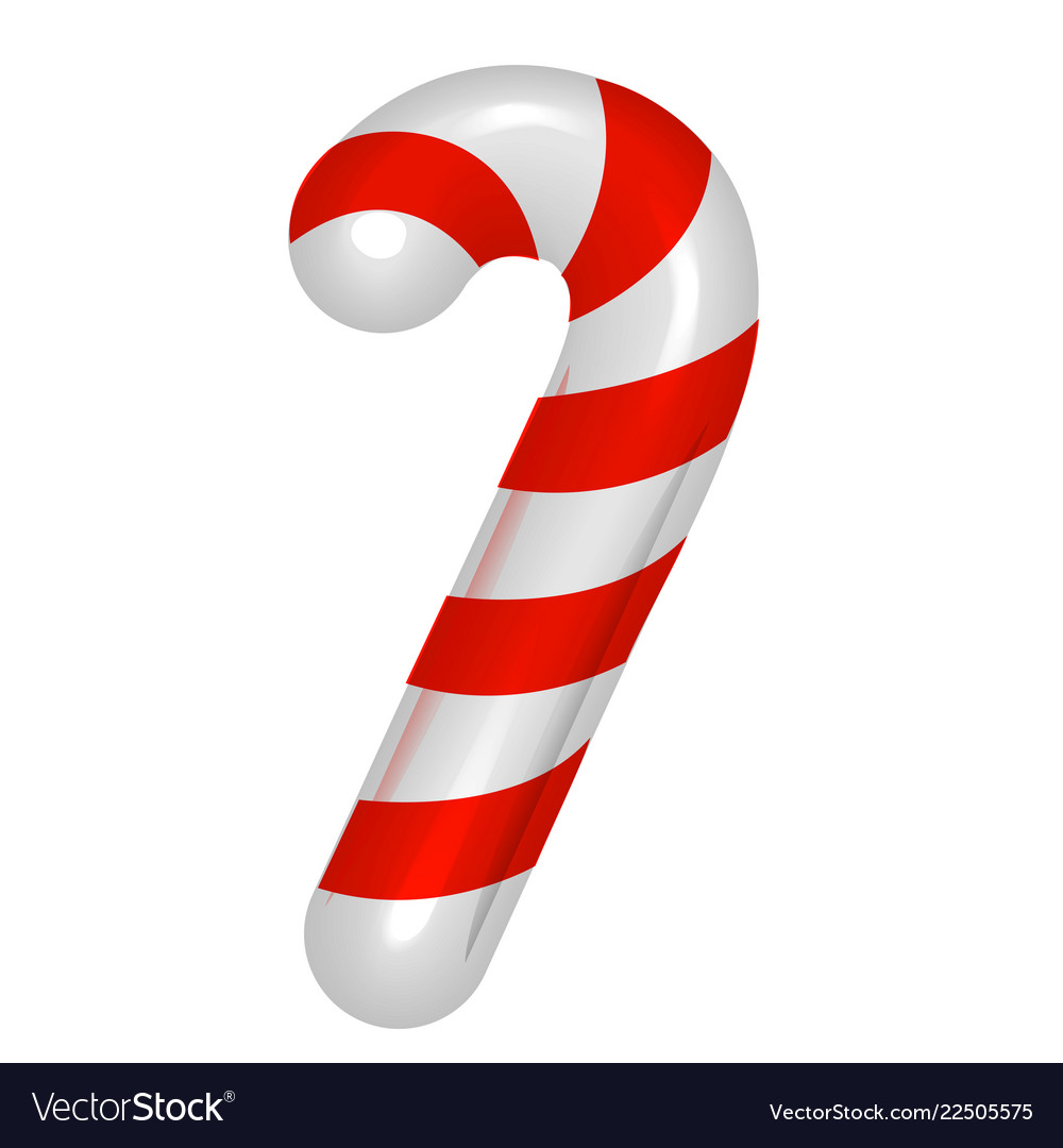 Christmas Candy Cane Cheerful Traditional Striped Vector Image
