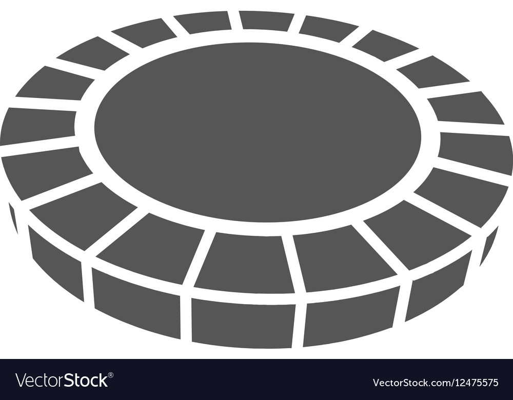 Grey casino chip