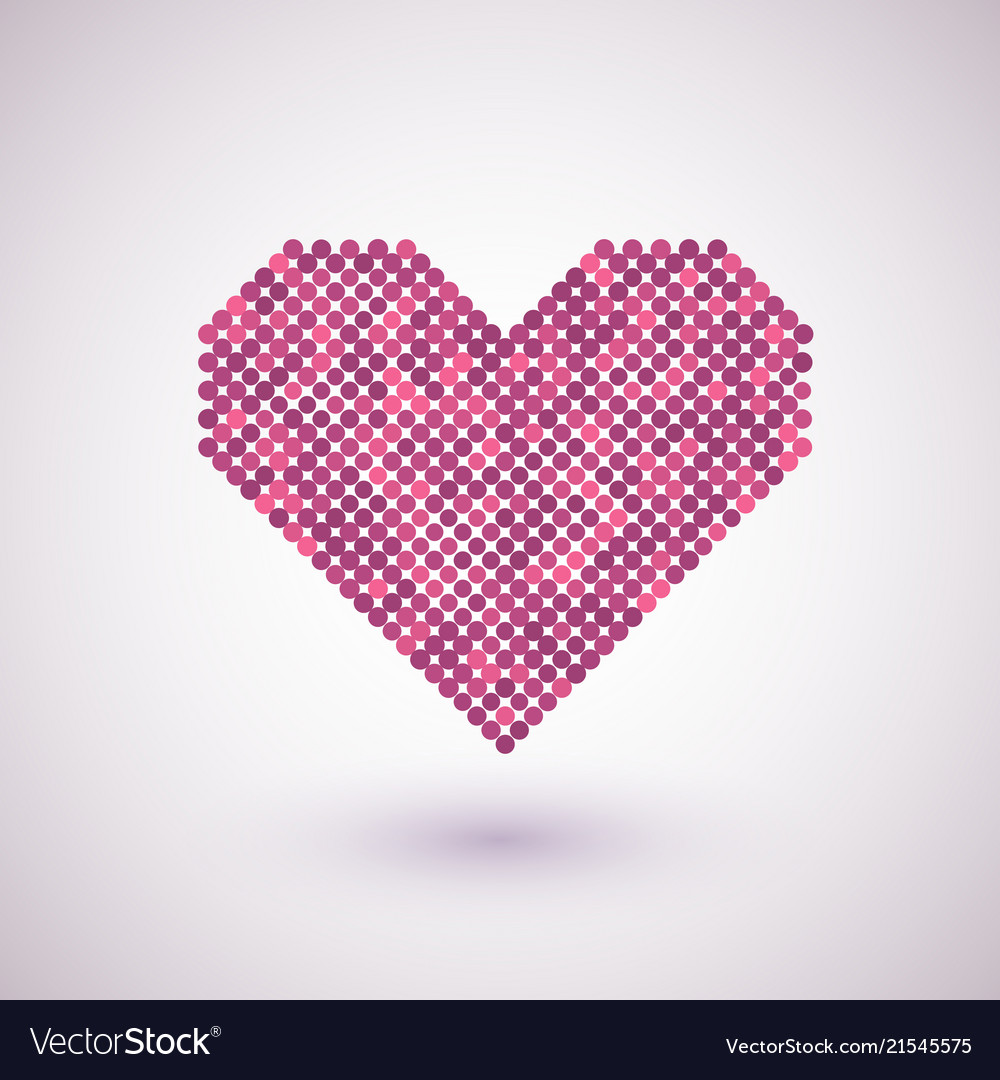 Heart with halftone effect
