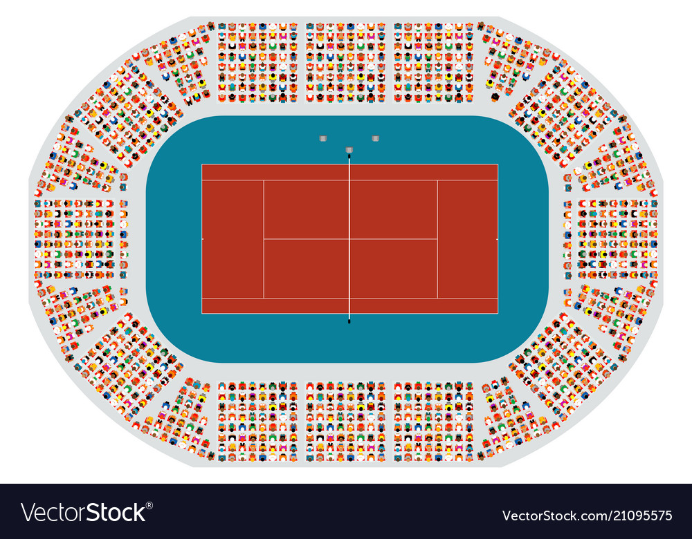 Tennis arena top view vector