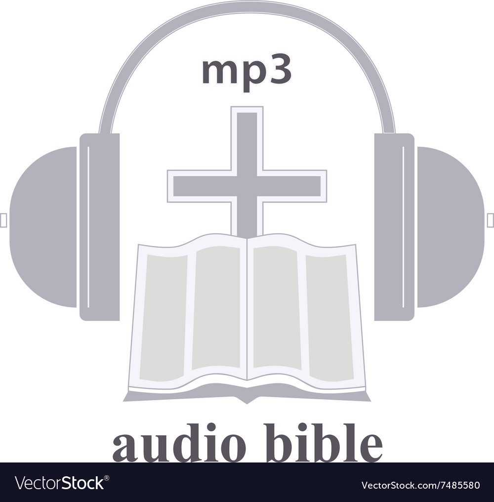 Audio Bible Icon Vector Image