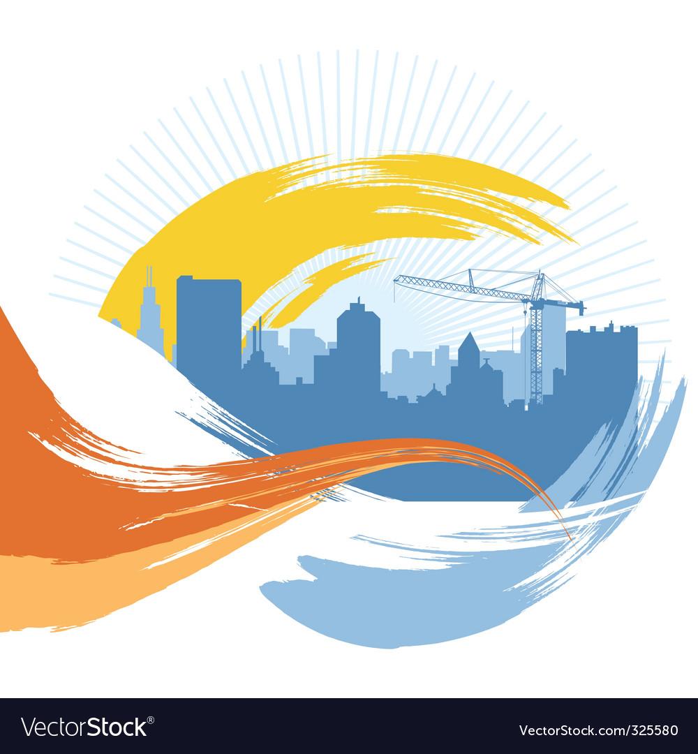 Grunge urban city vector image