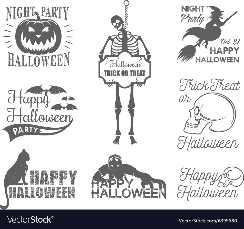 Halloween Posters and Badges set