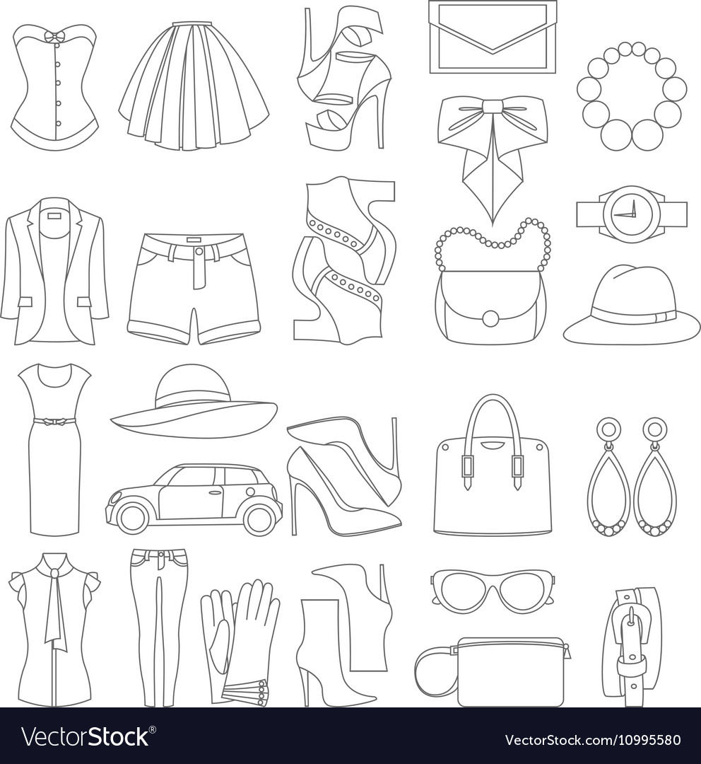 Icons design concept of fashion look