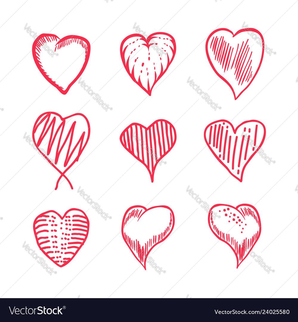 Love hand draw set