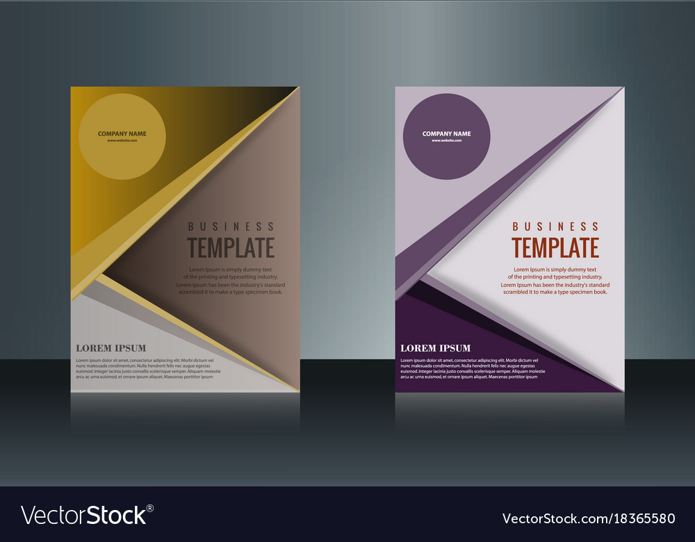 Sets of vertical business card print template vector image on VectorStock