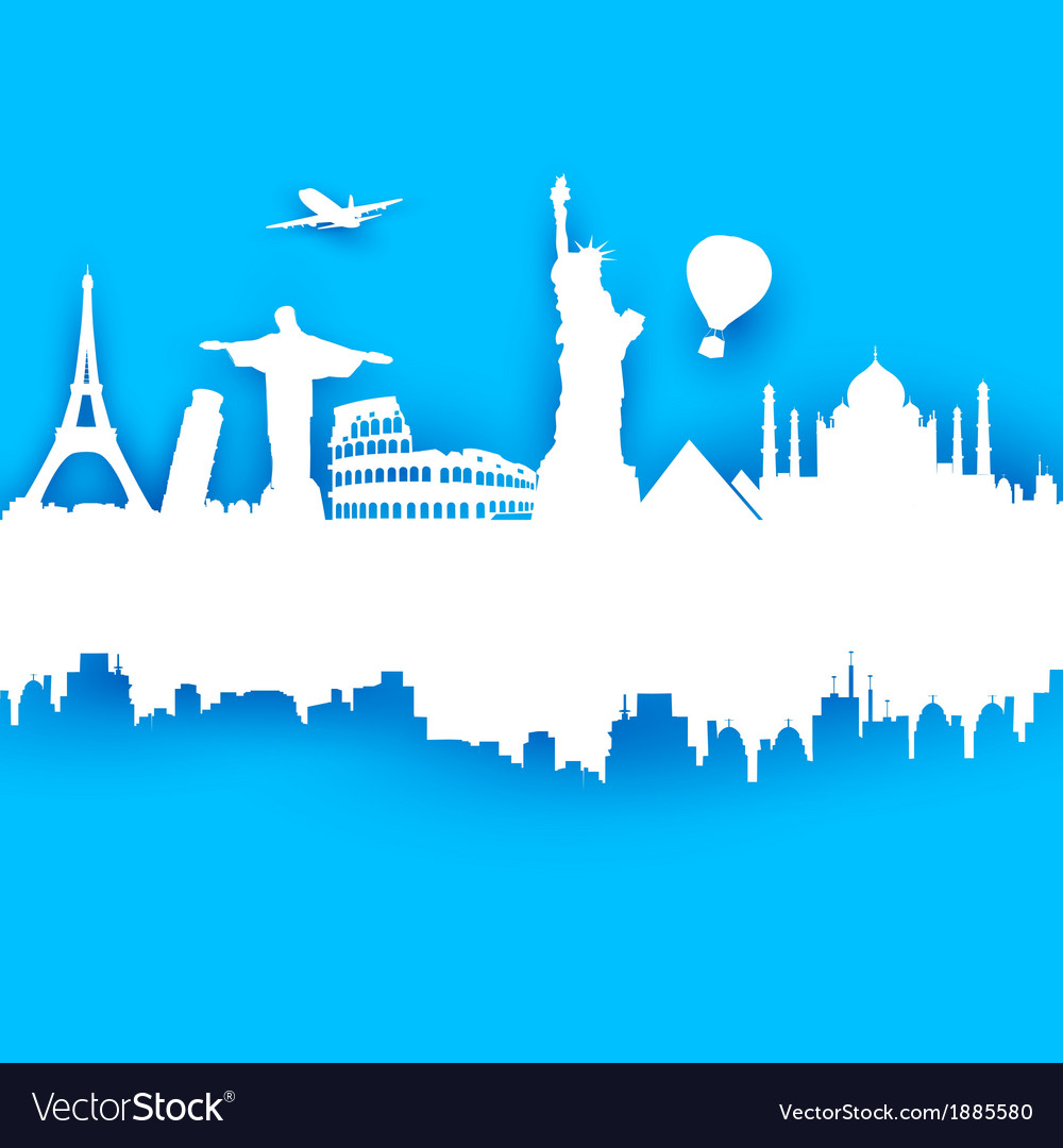 Travel Background Royalty Free Vector Image - VectorStock
