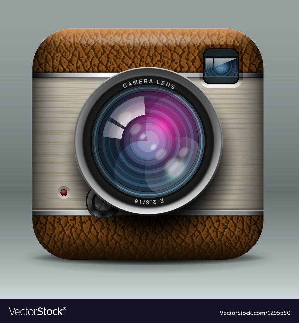 Vintage professional photo camera icon vector image