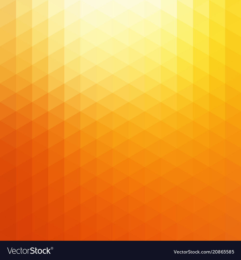 Abstract orange sunlight triangle