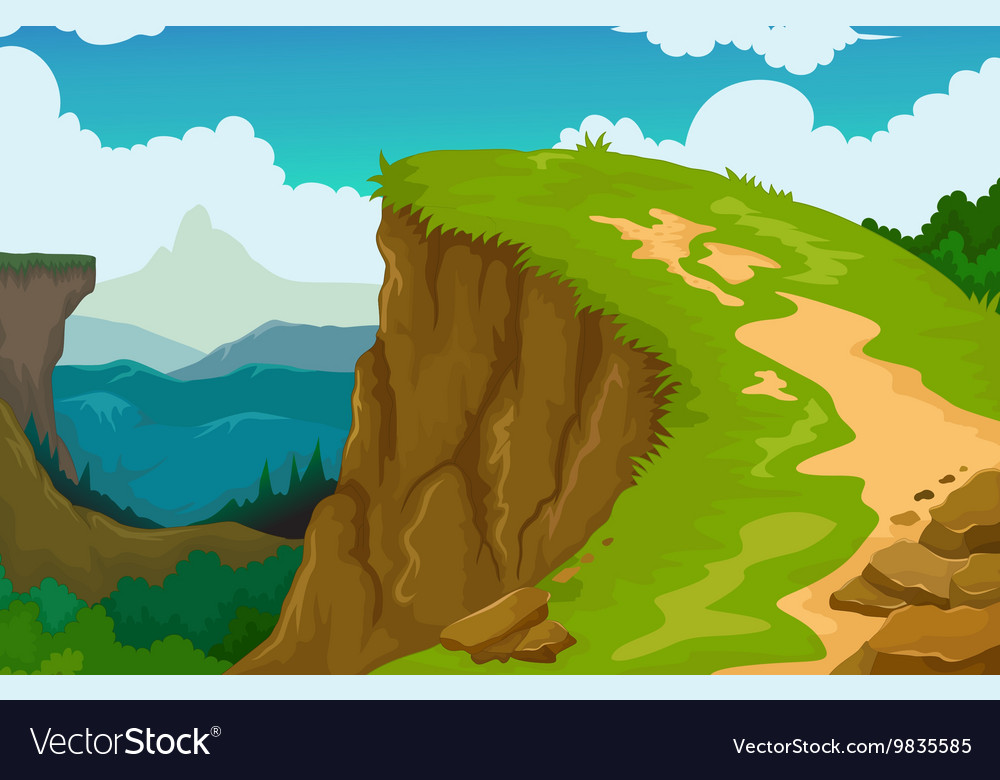 Beauty mountain cliff landscape background