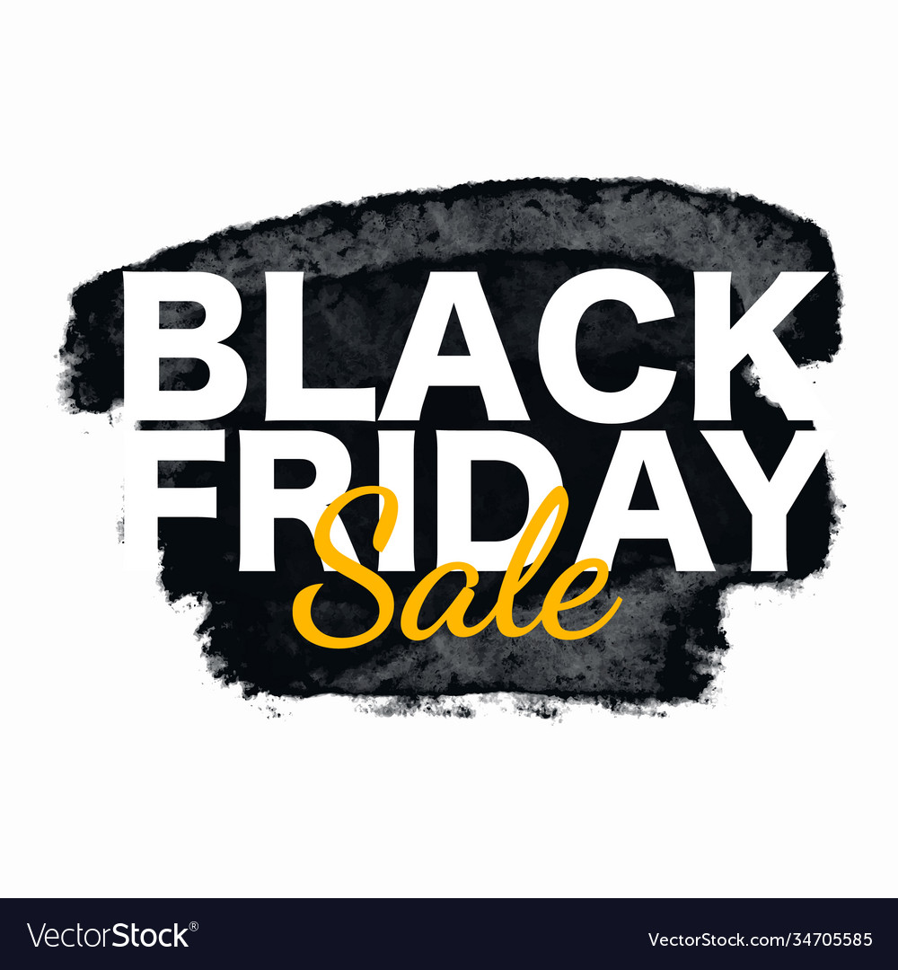 Black friday sale poster with grunge brush stroke