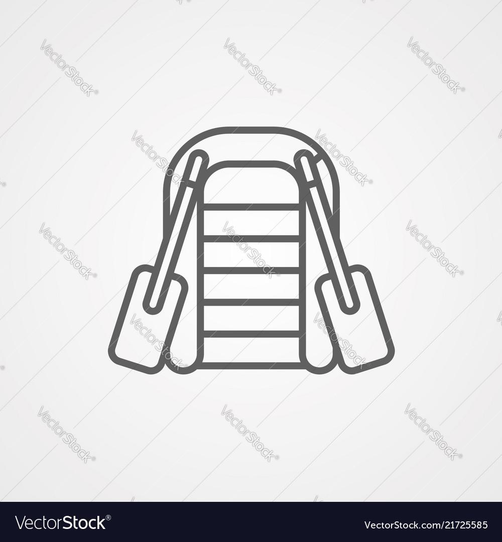 Boat icon sign symbol