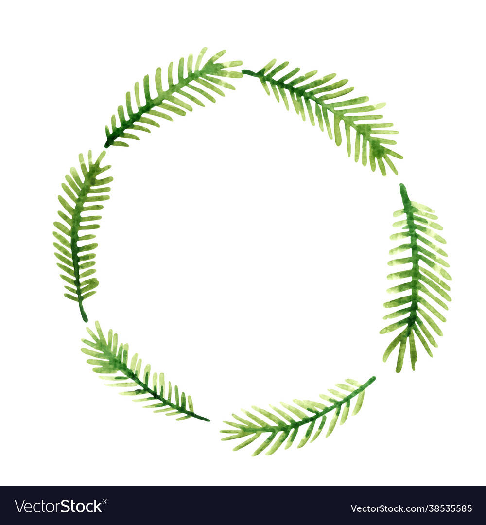 Coconut leaves or palm leaves wreath banner