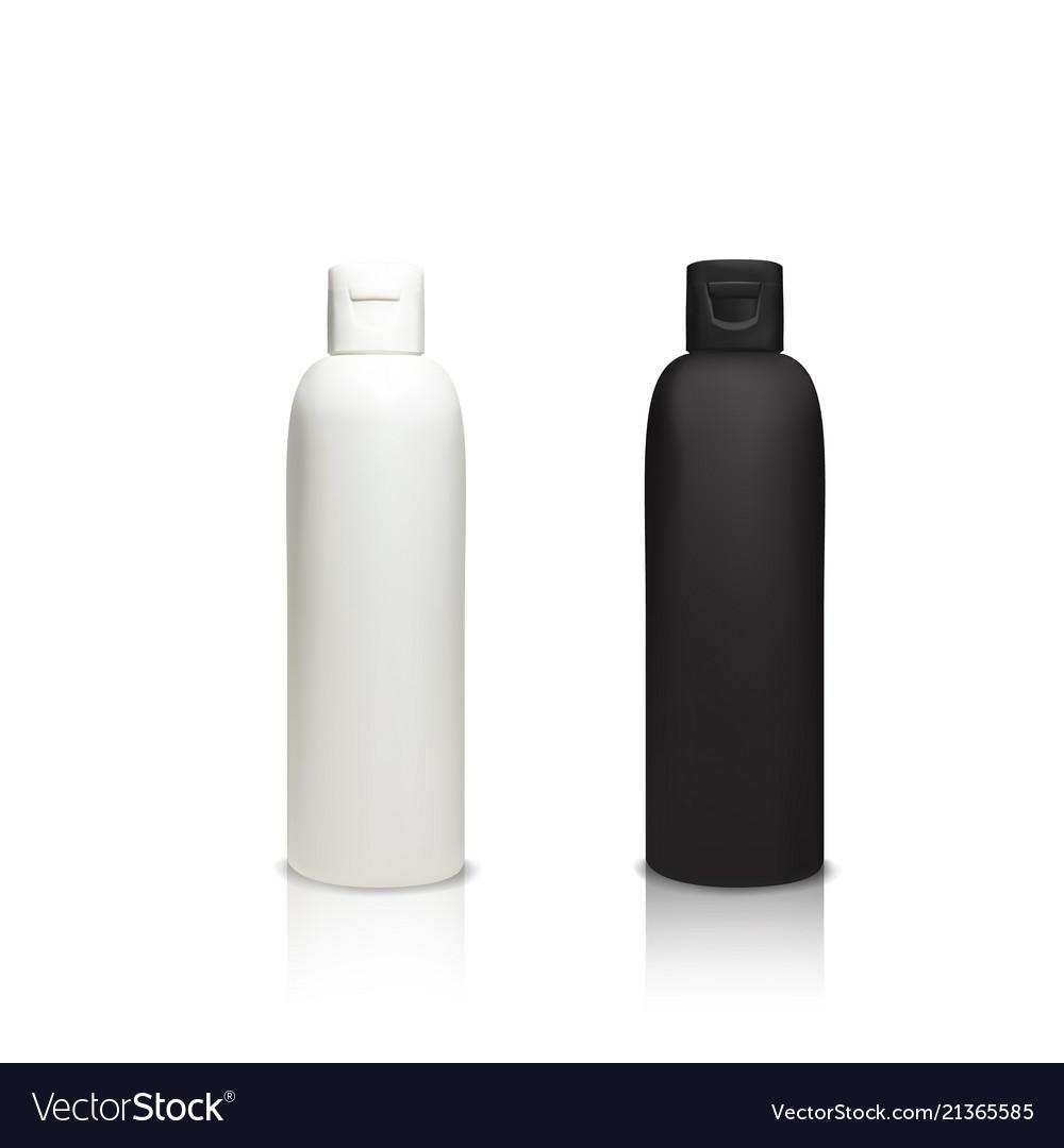 Cosmetic plastic bottles 3d