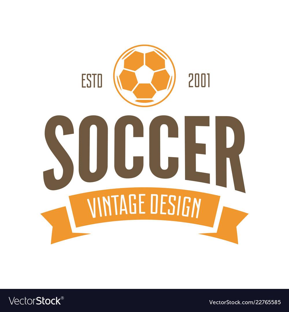 Football or soccer club logo set template