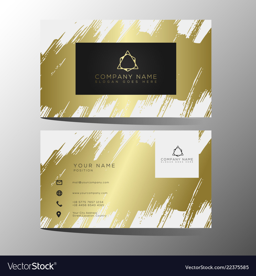 Luxury and elegant black gold business cards