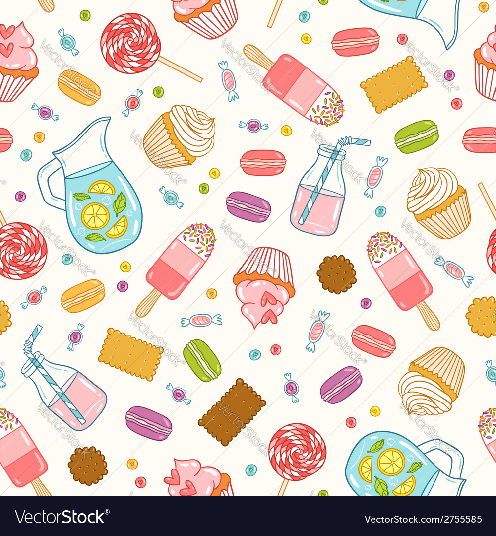 Make it sweet seamless pattern