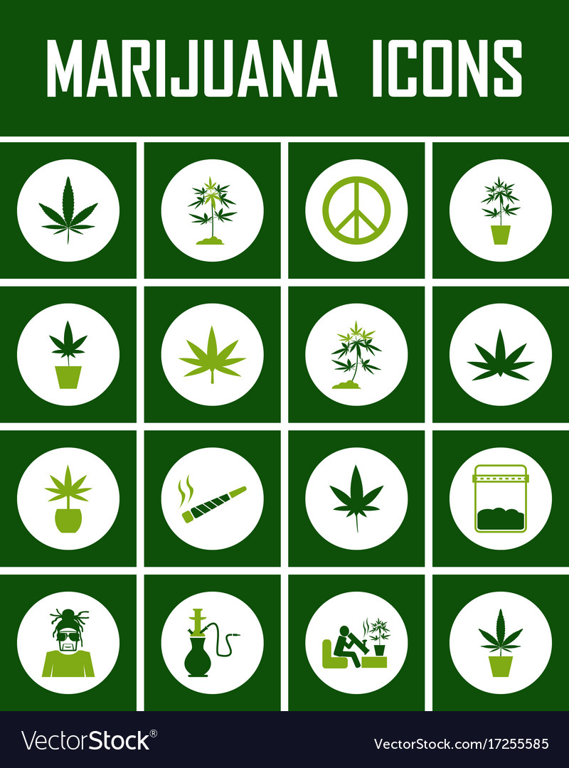 Marijuana icon set