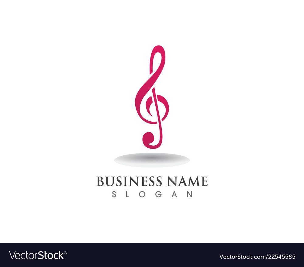Music note symbol logo and icons template
