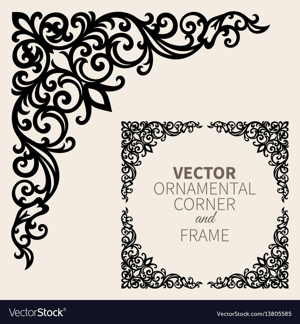 Photo Frame Corner Design Vector | Frameswalls org