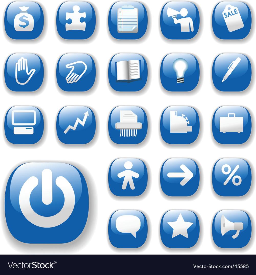 Shiny blue control button