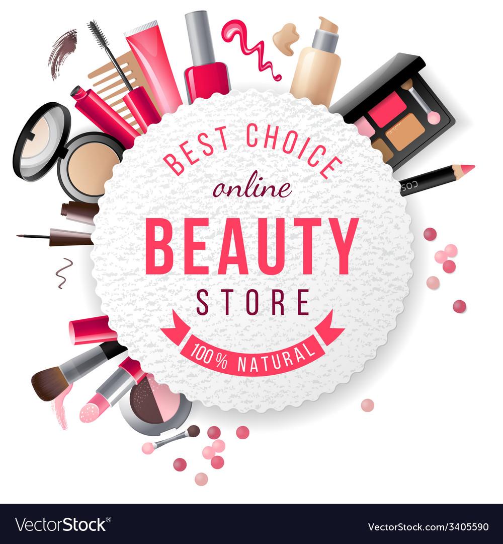 Beauty store emblem vector image