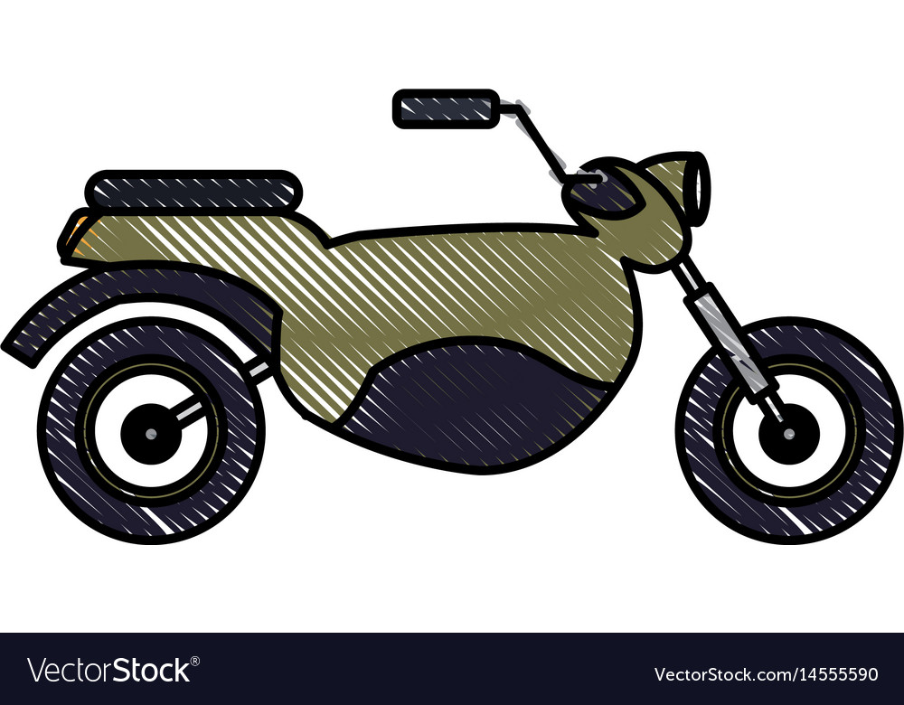 Drawing motorcycle transport hobby vehicle