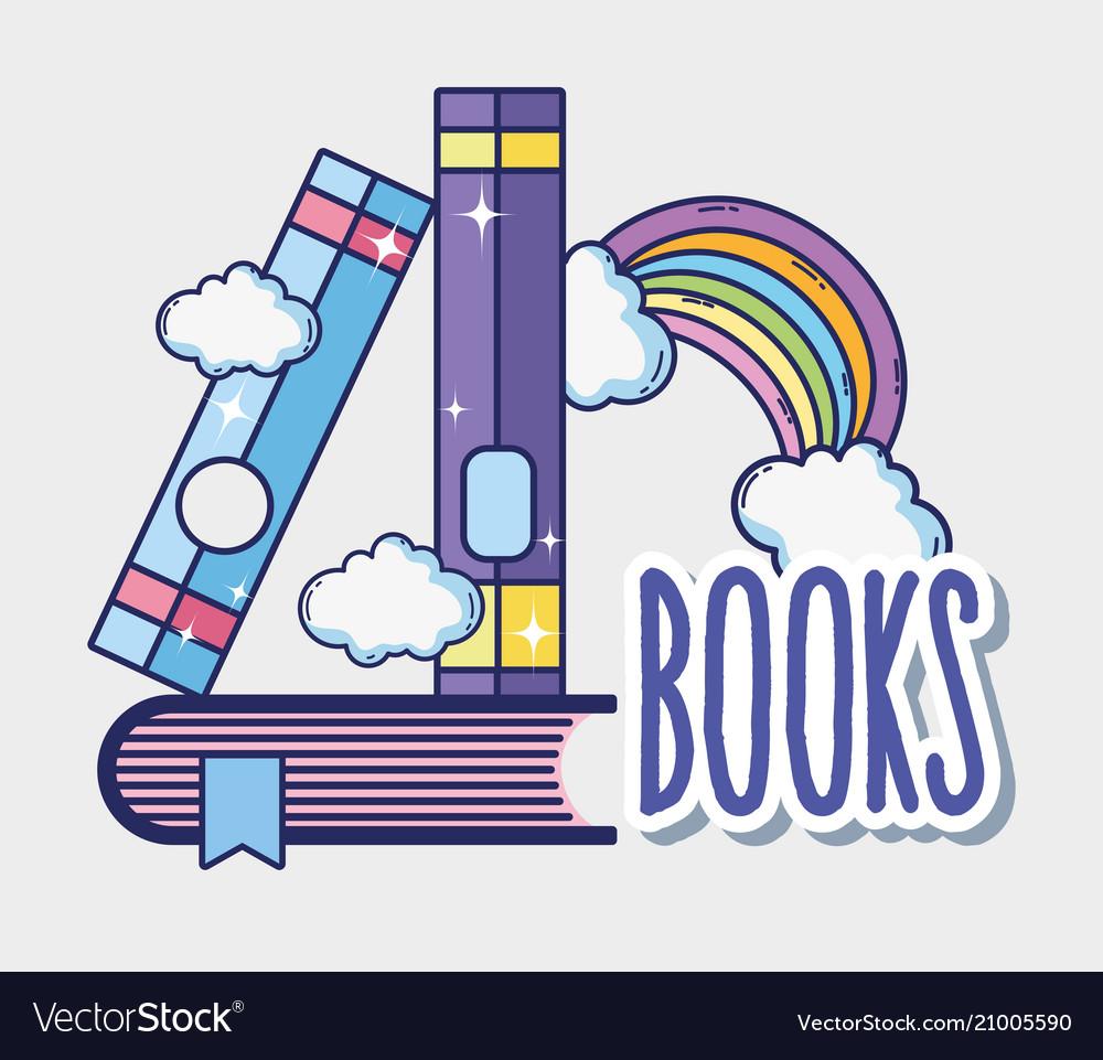 Fantasy and magic books vector image on VectorStock