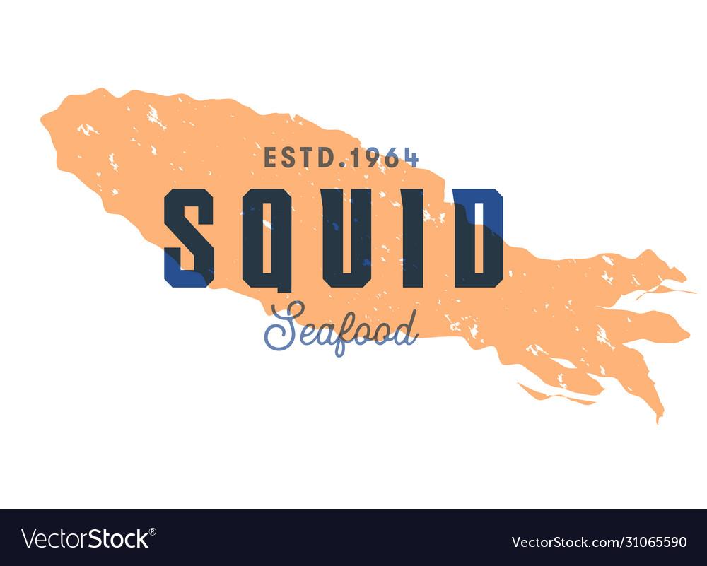 Fish silhouettede sign squid emblem