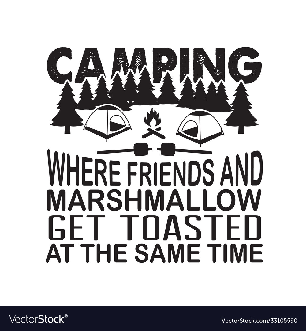 Friendship quote and saying camping where friends