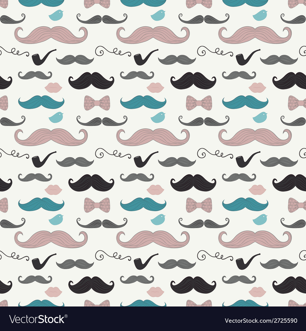 Hipster Retro Vintage Doodle Seamless Pattern