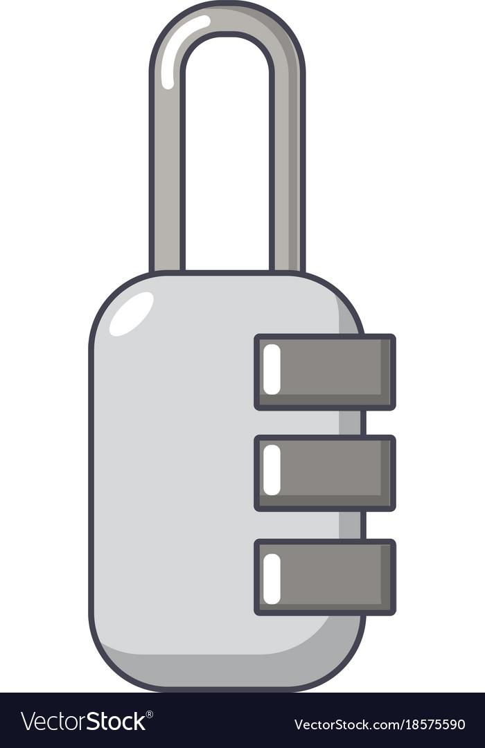 Lock Combination Icon Cartoon Style Royalty Free Vector