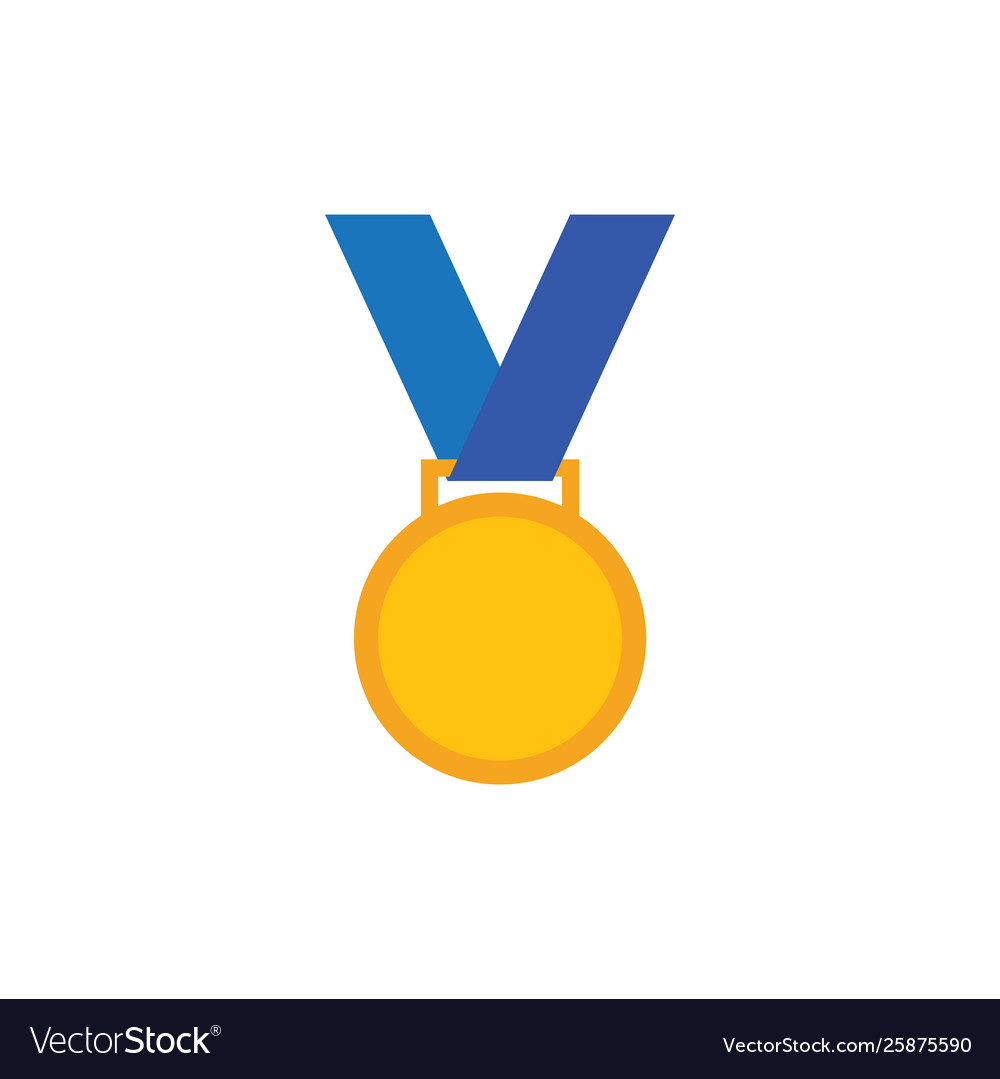 Medal icon design template isolated