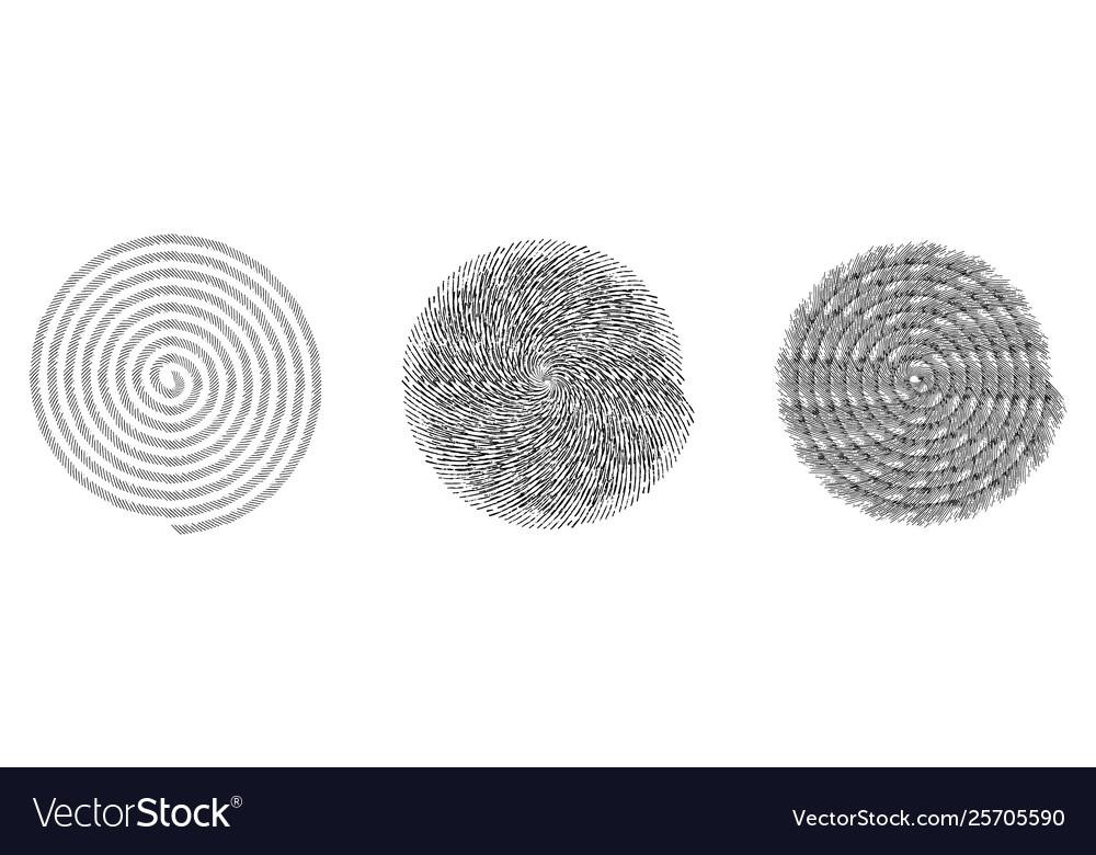 Spiral stamp set