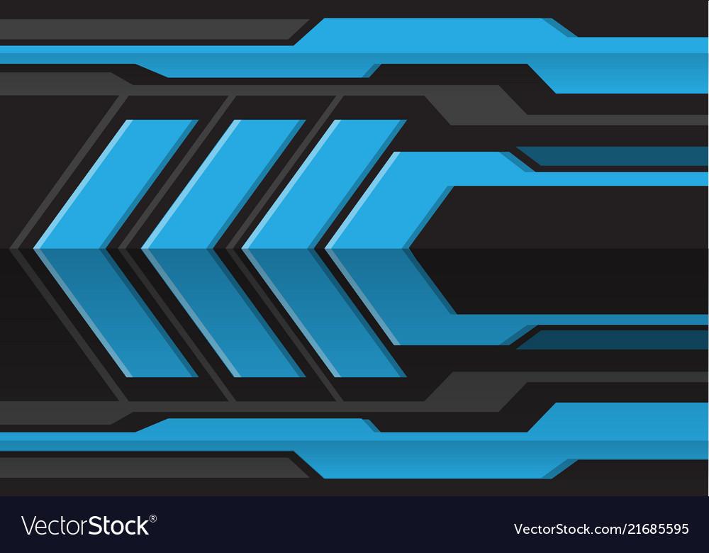Abstract blue gray arrow futuristic