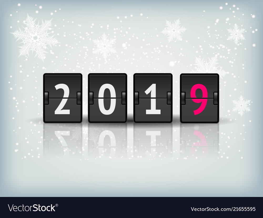 Countdown timer 2019 for new year design