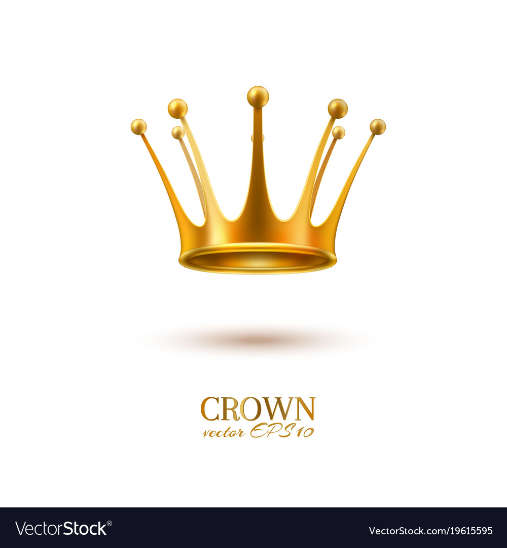 Realistic 3d golden crown