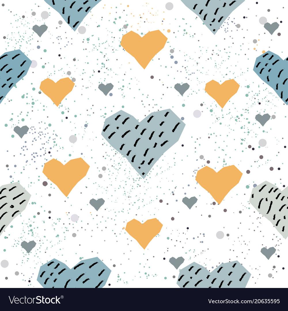 Seamless heart pattern on white