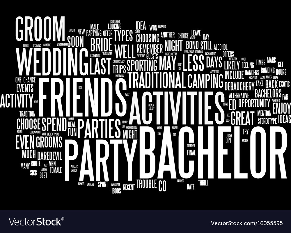 the best bachelor party ideas text background vector image