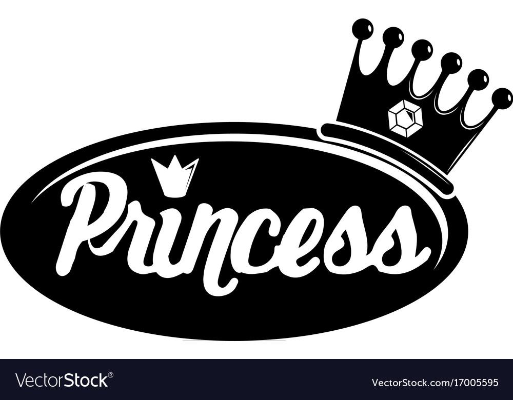 word princess crown icon simple black style vector image rh vectorstock com princess crown vector image free download princess crown vector free