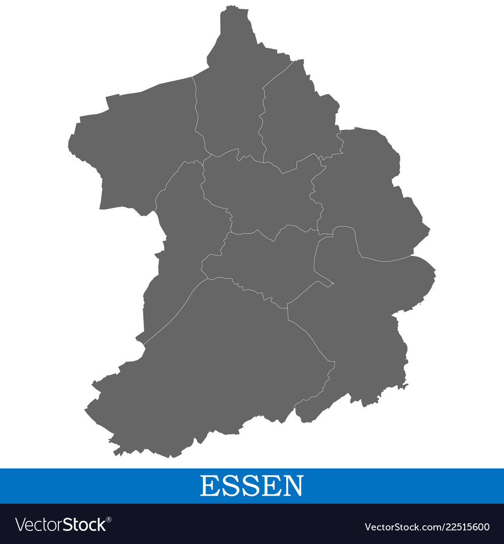 Map Of Zollverein Germany.High Quality Map City Of Germany Vector Image