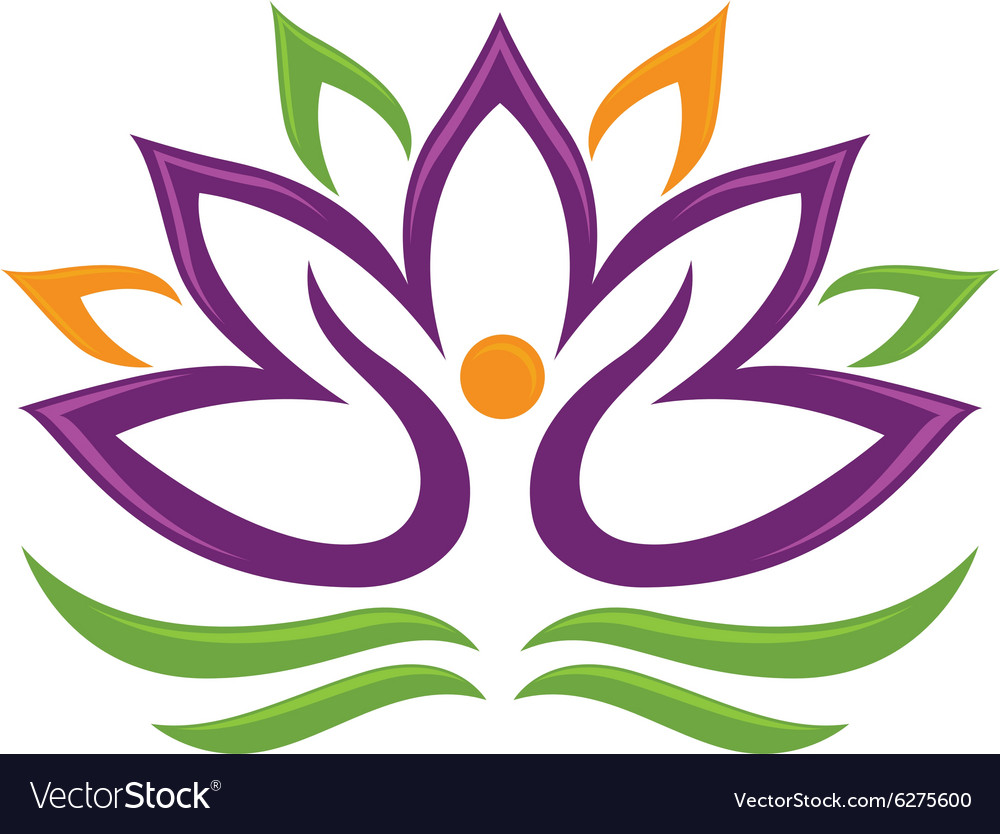 Lotus Flower Logo Royalty Free Vector Image Vectorstock