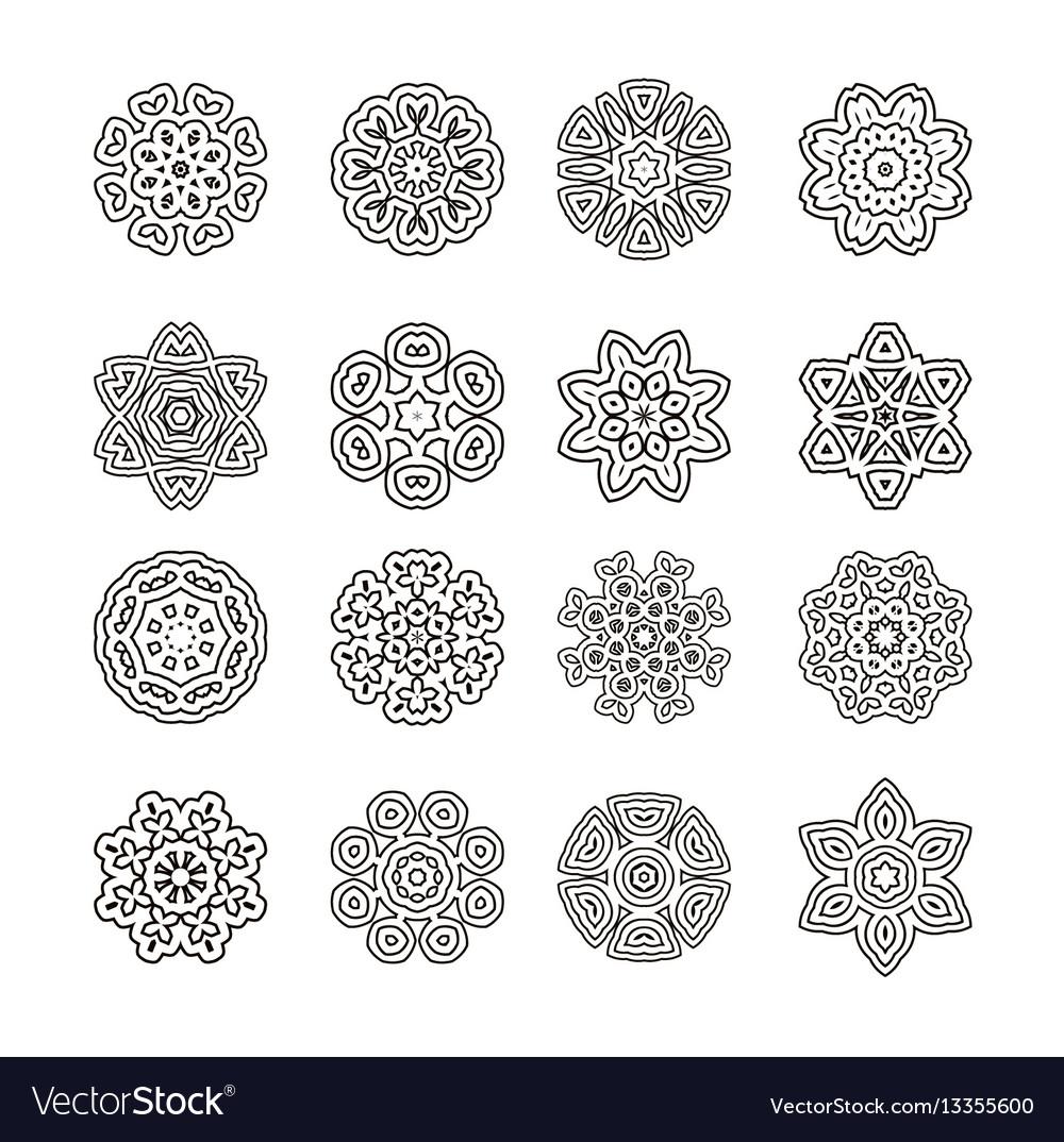 Mandalas ornament round set