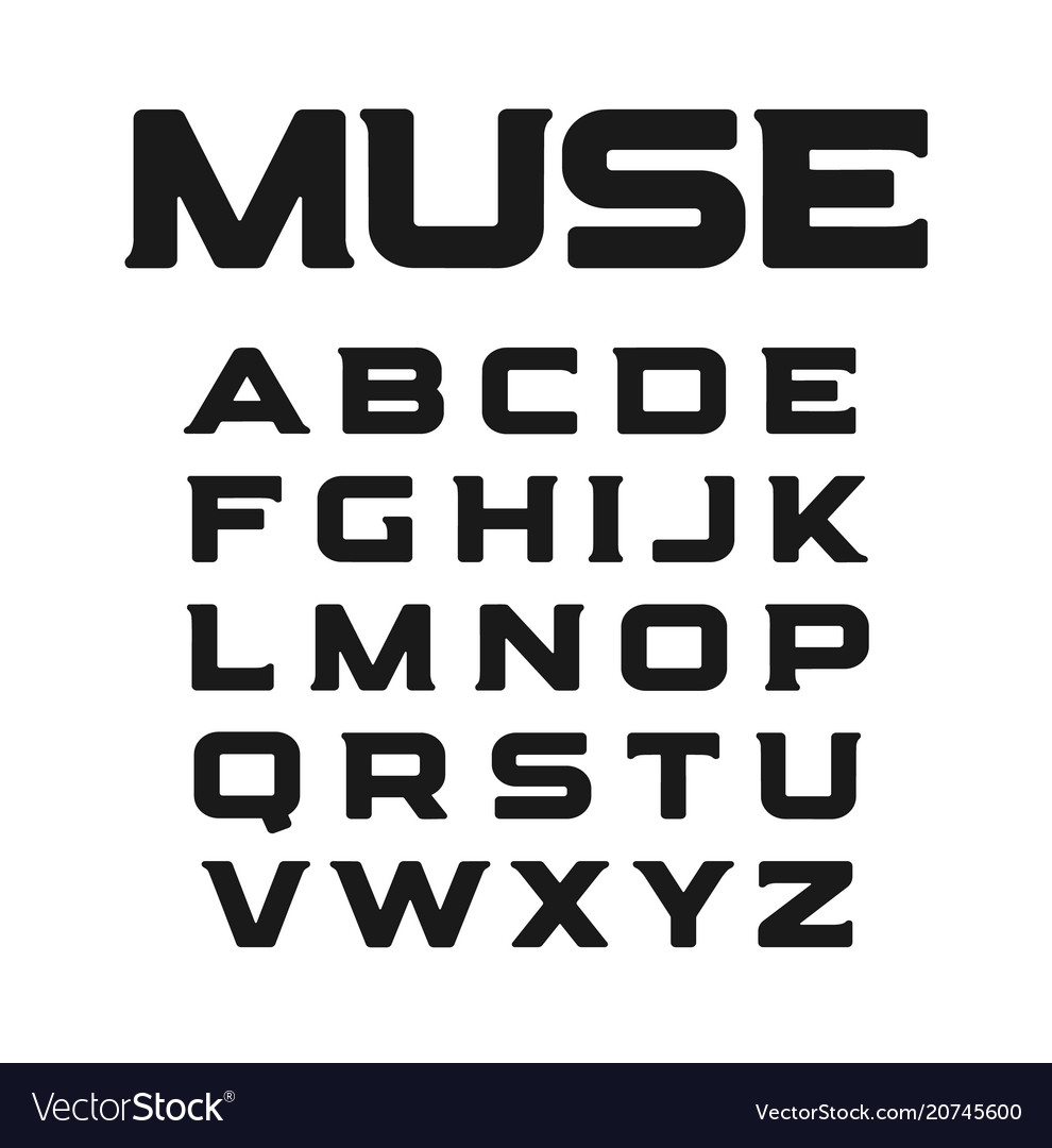 Modern font with unusual serifs new minimalism