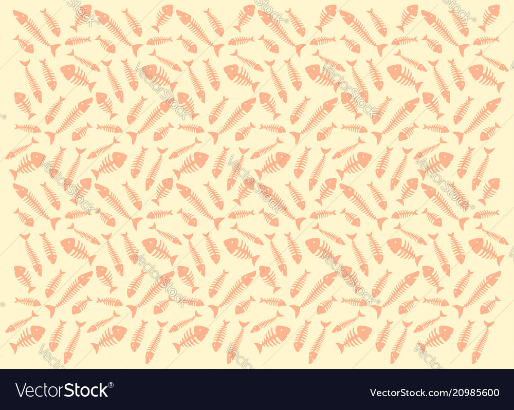 Pattern with fish skeletons