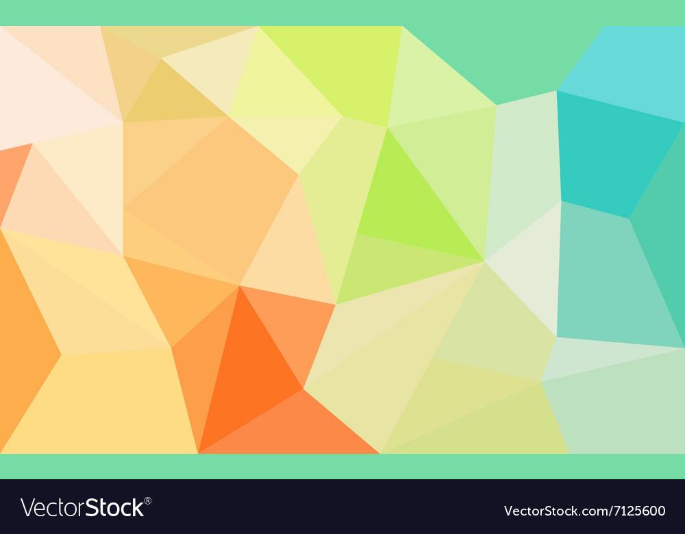 Rainbow colors triangular pattern