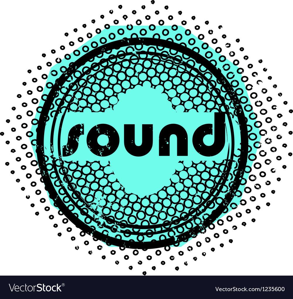 Sound stamp vector image